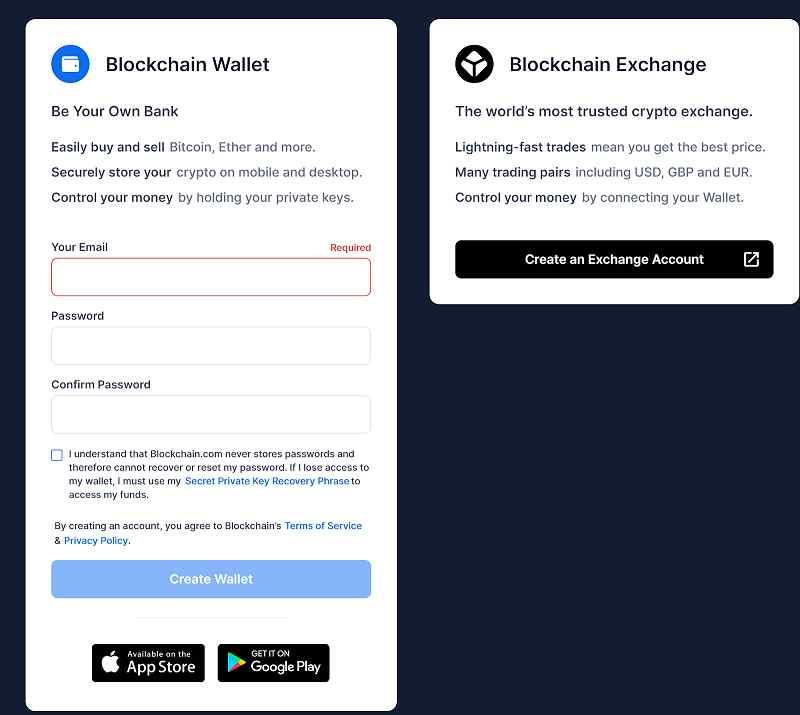 Cách tạo ví Blockchain bước 2