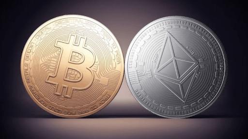Bitcoin và đồng Ethereum