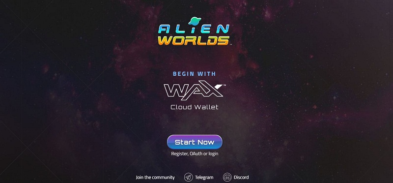 Giao diện Alien Worlds